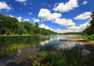 Summer Afternoon Reflections at Nebish Lake (2)-L